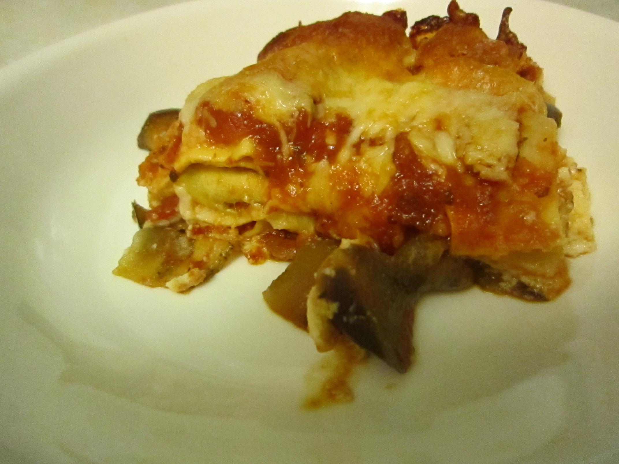 eggplant lasagna kate eats kale  substitute yogurt for cottage cheese in lasagna